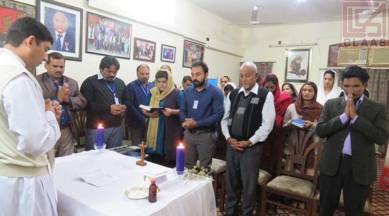Thanksgiving prayer at CLAAS office