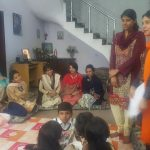 Apna Ghar girl is sharing her story with the guests
