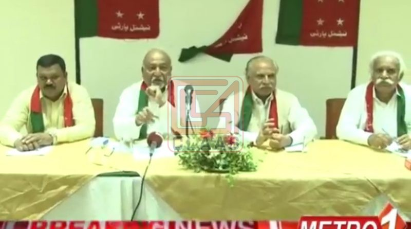 Coverage of press conference National Party