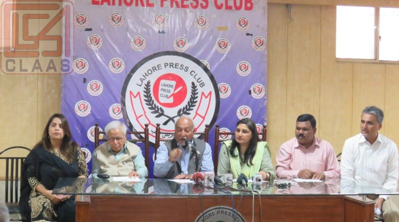 CLAAS hold a press conference on March 29th, 2019 at Lahore Press Club