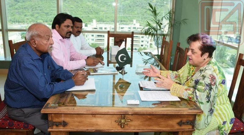 Meeting with Federal Minister Human Rights Dr. Shireen Mazari